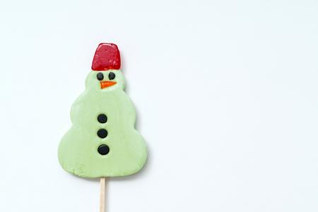 christmas lollipop on white