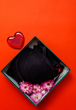 Valentines Day gift for a woman: black lingerie