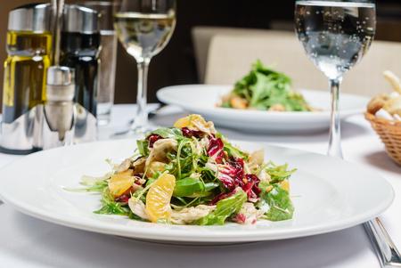 salad with mandarines Imagens