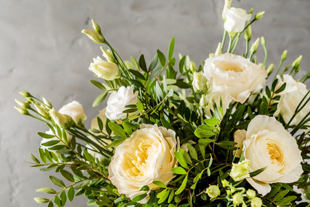 nice bouquet of white roses