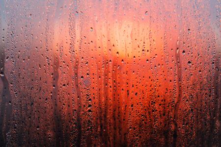 日没水滴 写真素材