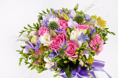 Bridal Bouquet on white background