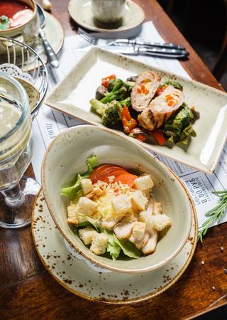 dinner in the restaurant Stock Photo