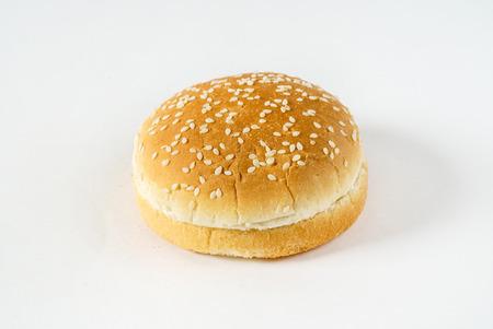 bun on the white background