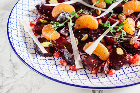 beetroot salad with mandarines