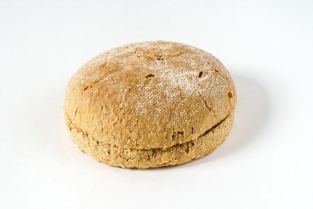 burger bread on white Stock Photo