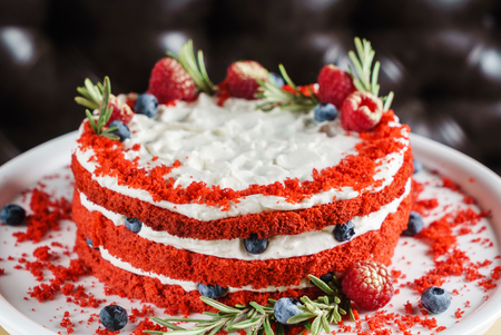 Christmas cake with berries