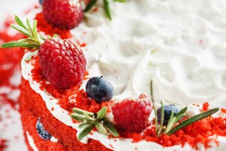 딸기와 함께 크리스마스 케이크