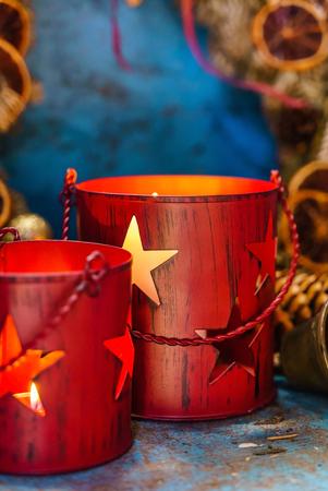 Christmas candles Stock Photo - 91682823