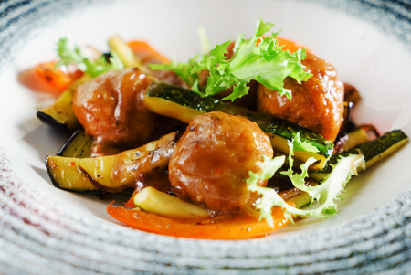 meatballs with vegetables Banque d'images