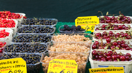 fresh berries on the market