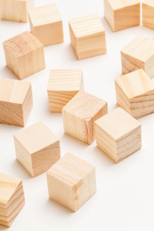木製のおもちゃのブロック 写真素材