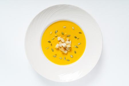 pumpkin cream soup Stock Photo
