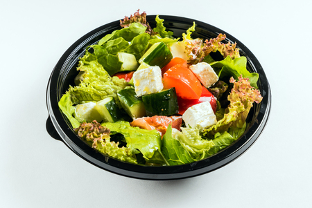 greek salad isolated Stock Photo - 92216061