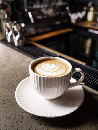 cup of cappuccino Standard-Bild