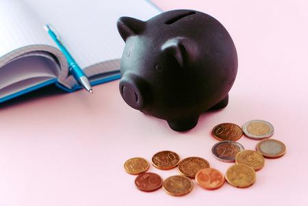 spaarvarken en munten