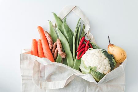 biologische groenten in de zak