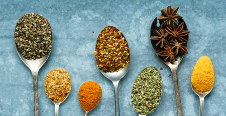 spices on the spoon