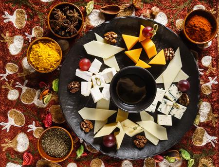 plate of cheese 版權商用圖片