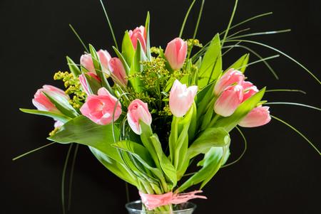 spring flowers on black background Stock fotó