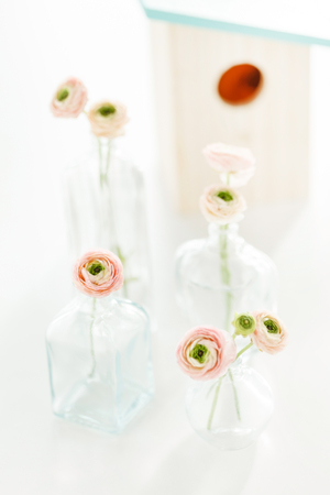 spring flowers in the vase Stock Photo