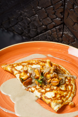 omelet with chanterelle