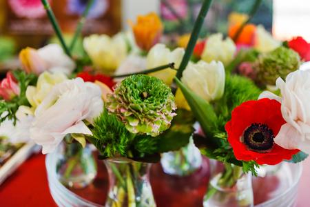 꽃병에 봄 꽃 스톡 콘텐츠