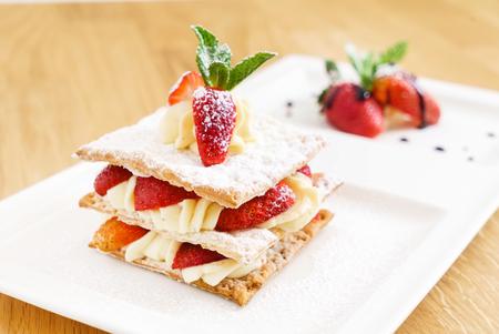 dessert with strawberries Stock fotó