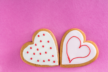 gingerbread for Valentines day Stock Photo