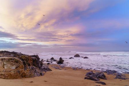 strand van de Atlantische oceaan