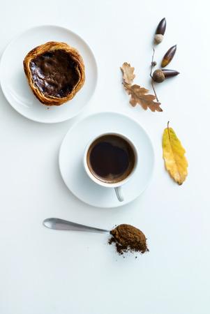 organic acorn coffee 写真素材