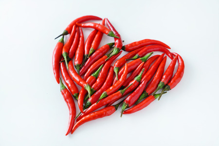 heart from chili peppers