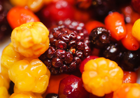 different kinds of berries Stock Photo