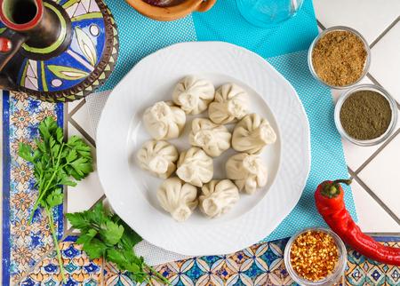 그루지야 만두 고기와 함께하는 Khinkali