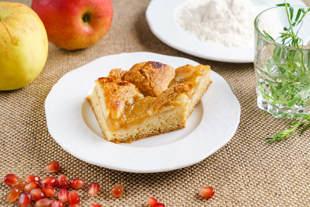 fresh apple cake Stock Photo
