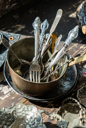 vintage forks and spoons Stock fotó - 95562738