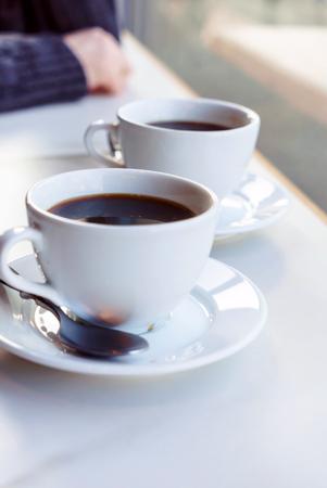 Caffè nella caffetteria Archivio Fotografico - 95562813