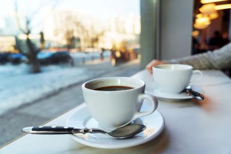 Caffè nella caffetteria Archivio Fotografico - 95563393