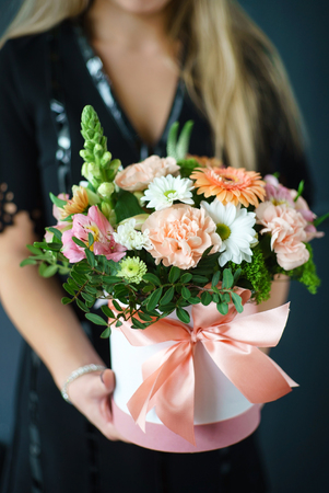 nice buquet in the hands Stock Photo