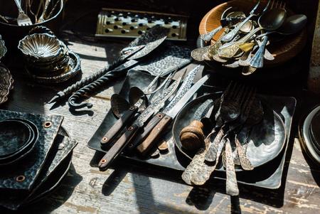 vintage forks and spoons Stock fotó - 95563385