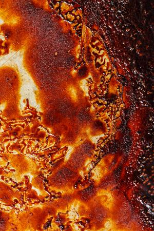 汚れたオーブンベーキングトレイ 写真素材