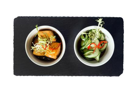 smoked salmon with cucumber Stock fotó
