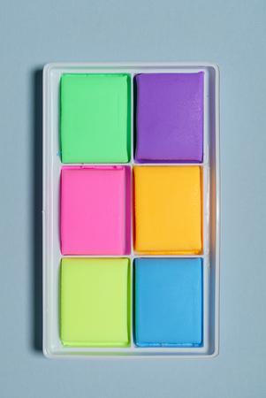 sticks of colorful plasticine,