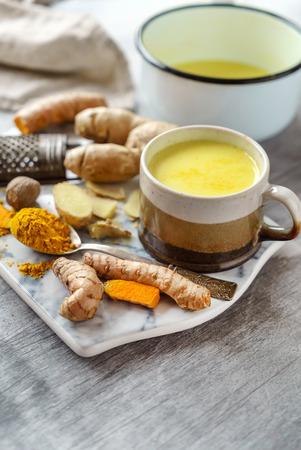turmeric golden tea Фото со стока