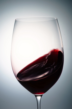 glass of red wine 스톡 콘텐츠