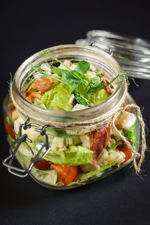 salad in the  bottle
