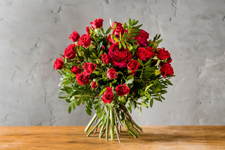 red roses bouquet Stockfoto