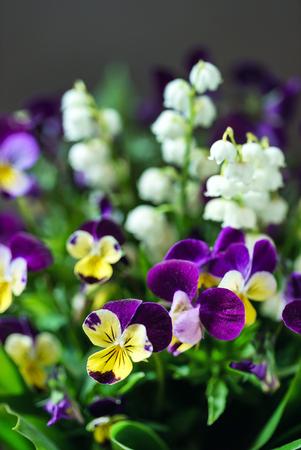 花瓶の中の春の花束