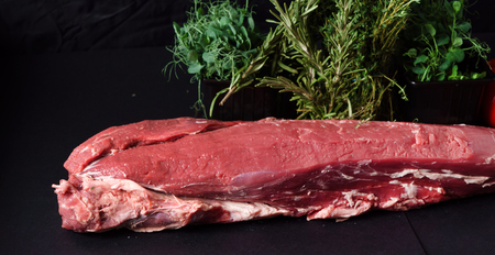 raw meat with herbs 스톡 콘텐츠 - 96501827