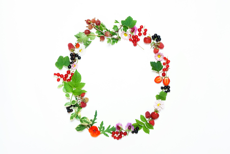 딸기와 여름 개념